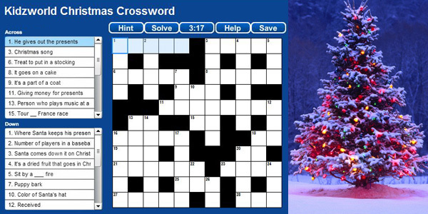 Feature christmas crossword feat