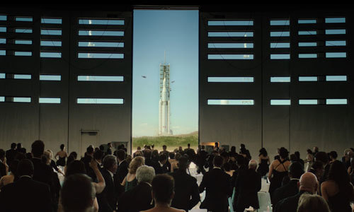 The first crew is launched to live on Mars
