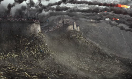 Hordes of monsters scurry up The Great Wall