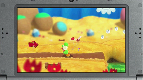 A screenshot from the game running on a 3DS.