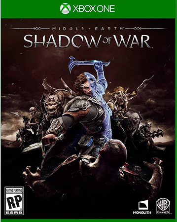 Shadow of War's standard edition case on Xbox One.