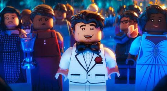 Bruce Wayne (Will Arnett) attends a city ceremony