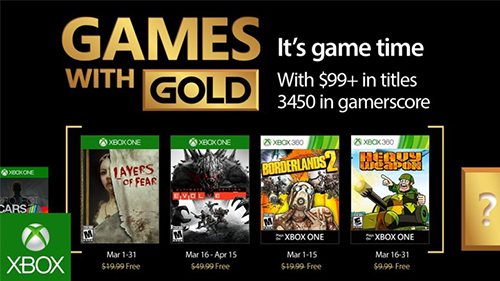 March 2017's Games With Gold lineup.