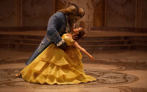Beast (Dan) and Beauty Belle (Emma) dance the night away