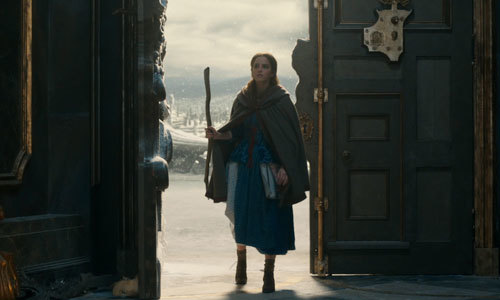 Belle first arrives at the Beast's castle