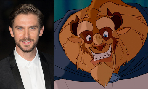 Dan Stevens with the animated version of Beast