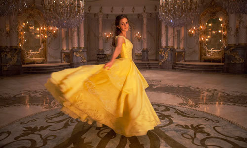 Belle in her beautiful formal gown