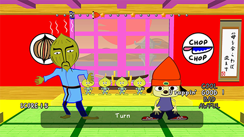 PaRappa the Rapper's opening level in the demo.
