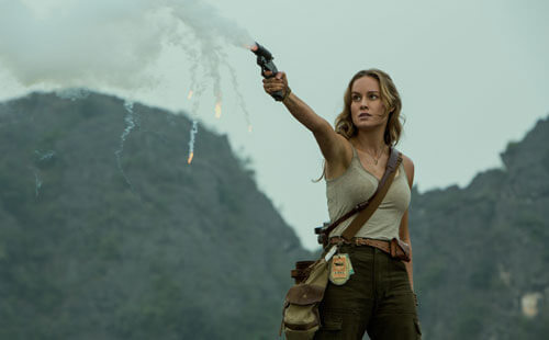 Brie as Mason fires a flare
