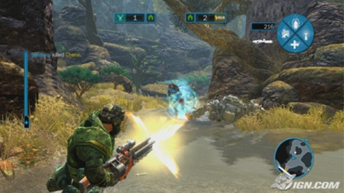 Gameplay from the original Avatar game in 2009.