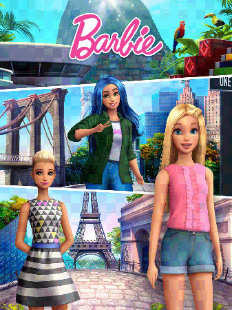 Travel around the world with Barbie