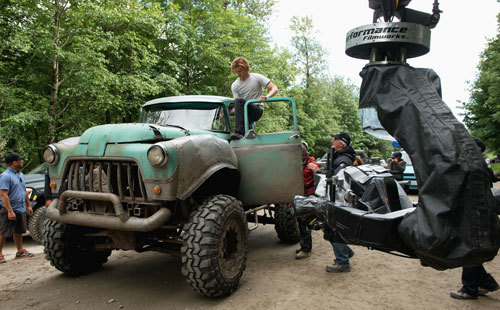 Lucas Till as Tripp prepares to do a stunt