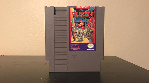 My childhood copy of Chip 'n Dale Rescue Rangers for the NES.