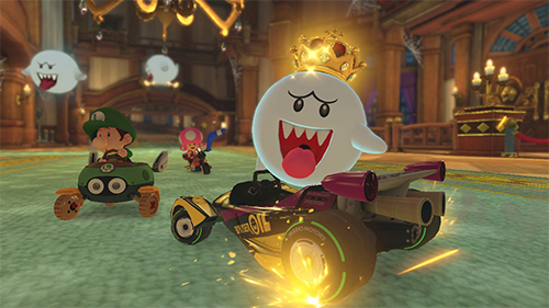 King Boo make his return in Mario Kart 8 Deluxe.