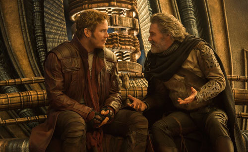Star Lord gets to know his dad (Kurt Russell) better