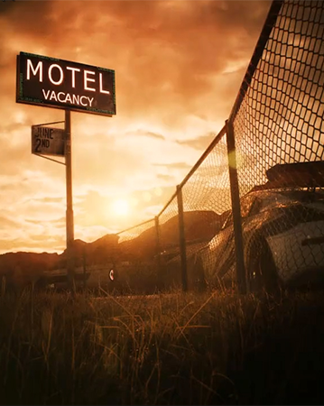 The newest image to tease Need for Speed, with the sunset setting of Most Wanted.