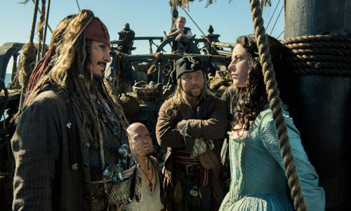 Jack Sparrow and crew question Carina (Kaya)