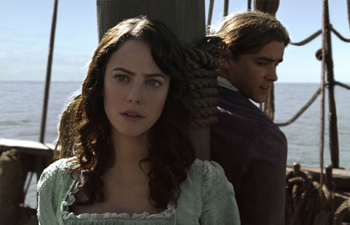 Carina (Kaya) and Henry (Brenton) are prisoners