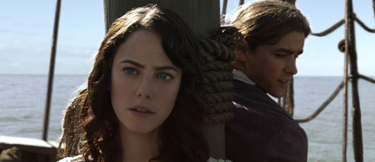 Brenton Thwaites and Kaya Scodelario are Pirates of the Caribbean!