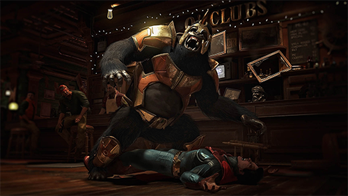 Gorilla Grodd beats down on our Man of Steel.