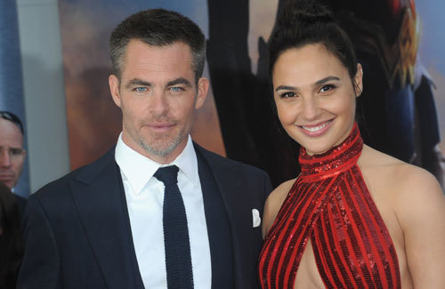 Chris and Gal at the premiere