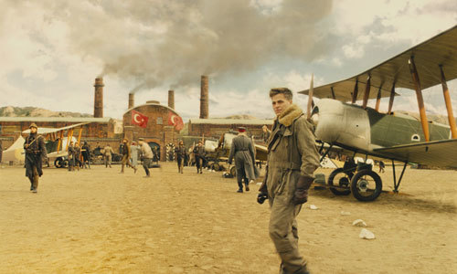Steve Trevor on a Turkish airfield