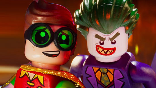 The Joker bears down on poor Robin