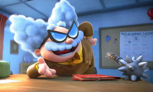 Prof. Poopypants plans his evil scheme