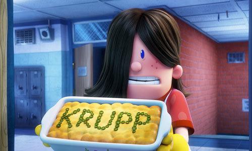 Edith makes a caserole for Krupp