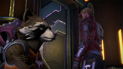 Rocket's connection with Quill is a series highlight.