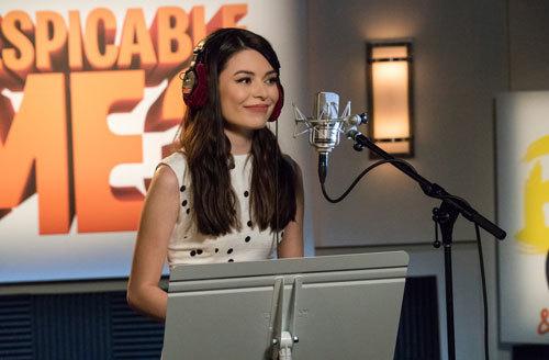 Miranda recording her Margo voice