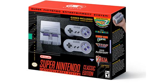 The Super NES Classic's box, nostalgia approved.