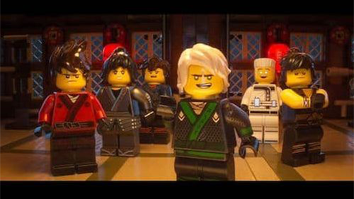 Characters from LEGO's Ninjago world.
