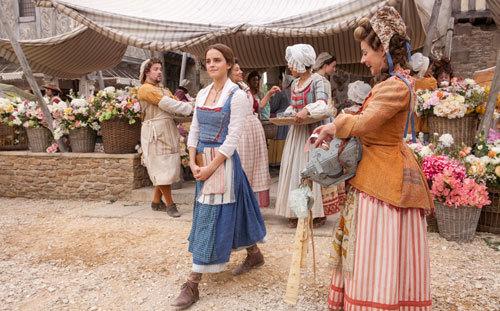 Belle strolls around her small village