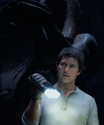 Tom as Nick Morton inside the mummy's tomb
