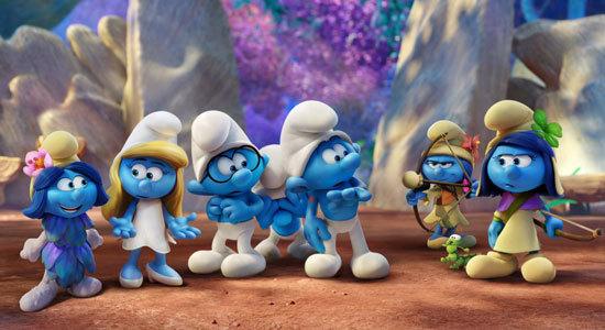 Smurfblossom, Smurfette, Brainy, Clumsy, Hefty, Smurflily and Smufstorm