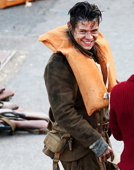 Harry on set in a lighter moment