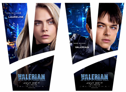 Laureline and Valerian character Posters