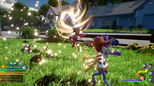 Footage of fighting in the yard confirms that Kingdom Hearts will play as well as ever.