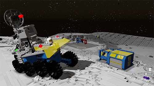 The vehicle included in the new LEGO Worlds DLC.