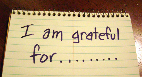 What are you grateful for? Start a gratitude journal.