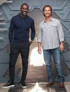 Idris and Matthew at the interview