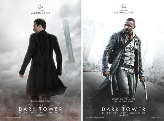 The Dark Towers Matthew McConaughey and Idris Elba Posters