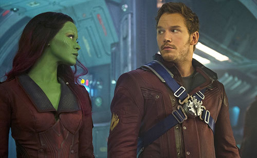 Gamora and Peter still have a love/hate relationship