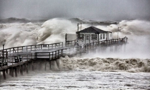 Hurricane Sandy, Ocean Grove Pier, N.J.