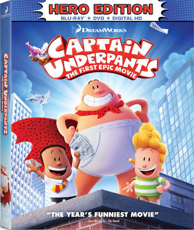 Captain Underpants: The First Epic Movie Blu-ray