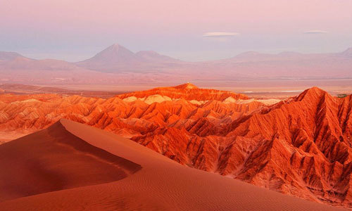 The Atacama Desert, a region in Chile is called the driest place on Earth