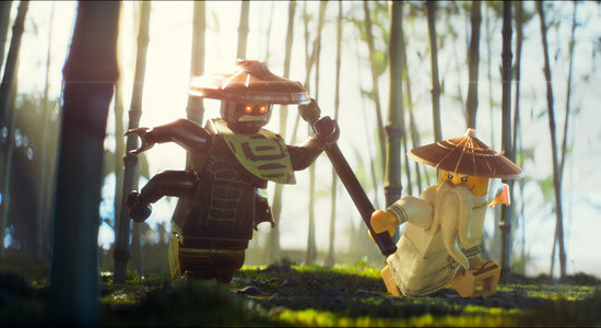Master Wu fights his brother Garmadon