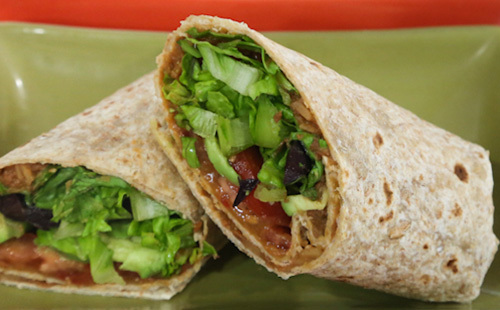 Try a wrap instead of a sandwich for lunch