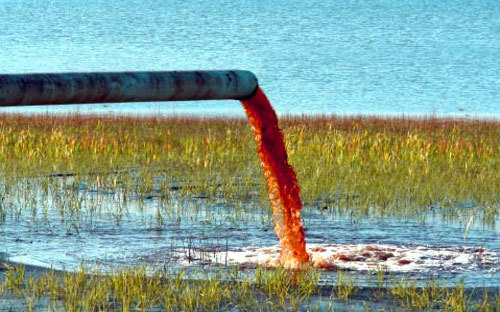 Water Pollution can be oils and chemical waste